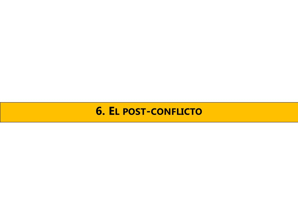 6. E L POST - CONFLICTO