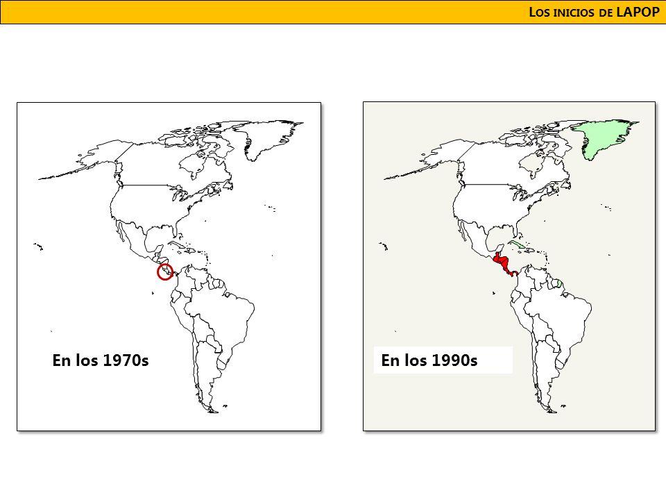 L OS INICIOS DE LAPOP En los 1970s