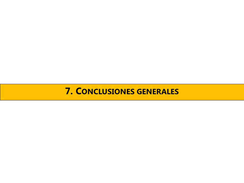 7. C ONCLUSIONES GENERALES