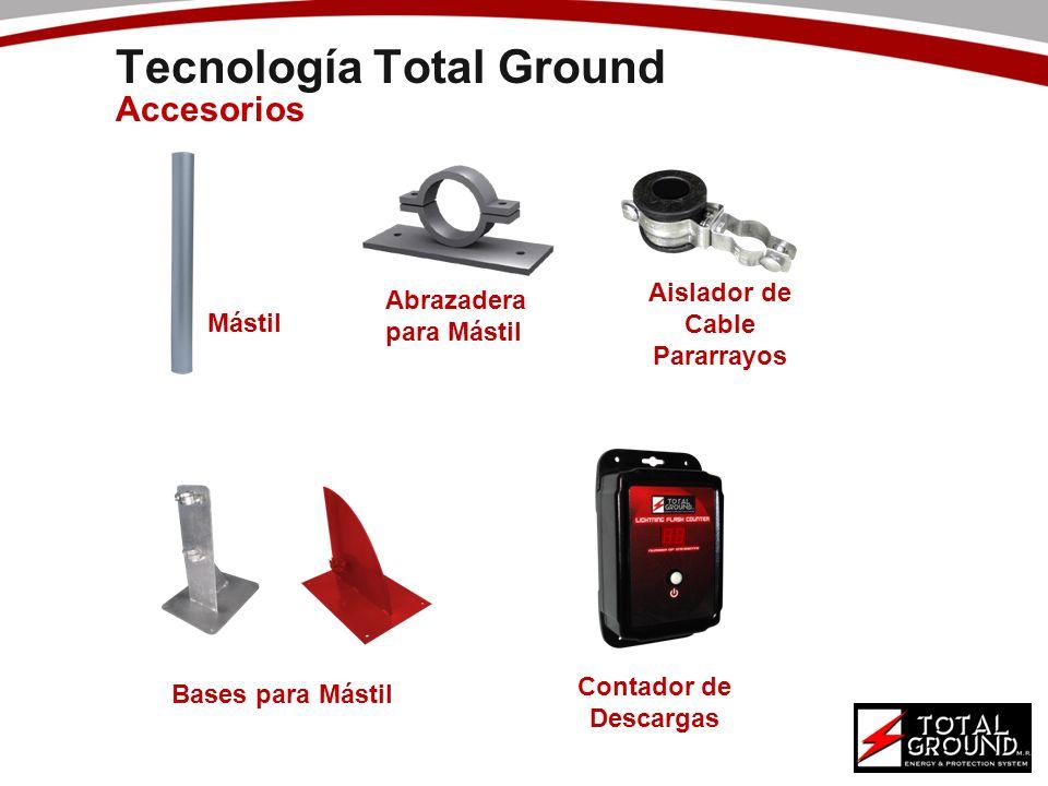 Tecnología Total Ground Accesorios Mástil Bases para Mástil Abrazadera para Mástil Aislador de Cable Pararrayos Contador de Descargas