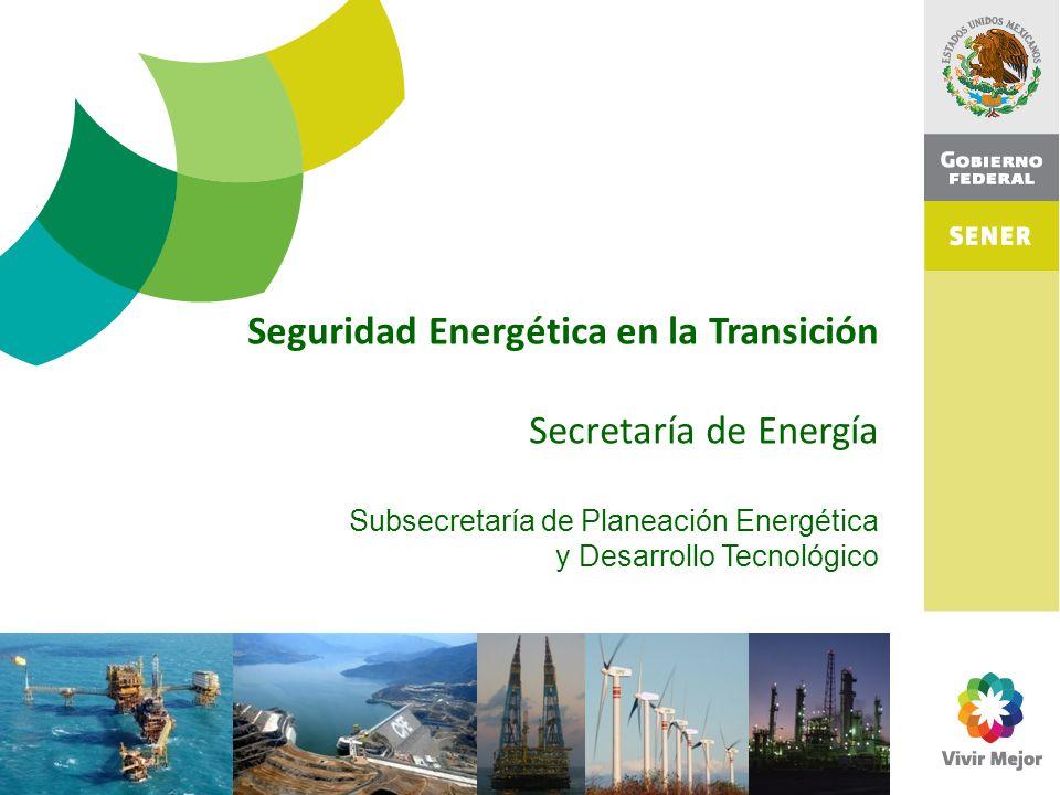 Seguridad Energética en la Transición Secretaría de Energía Subsecretaría de Planeación Energética y Desarrollo Tecnológico