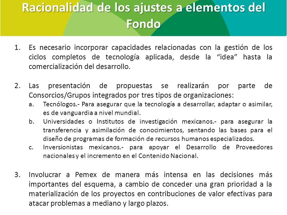 1.Es necesario incorporar capacidades relacionadas con la gestión de los ciclos completos de tecnología aplicada, desde la idea hasta la comercialización del desarrollo.