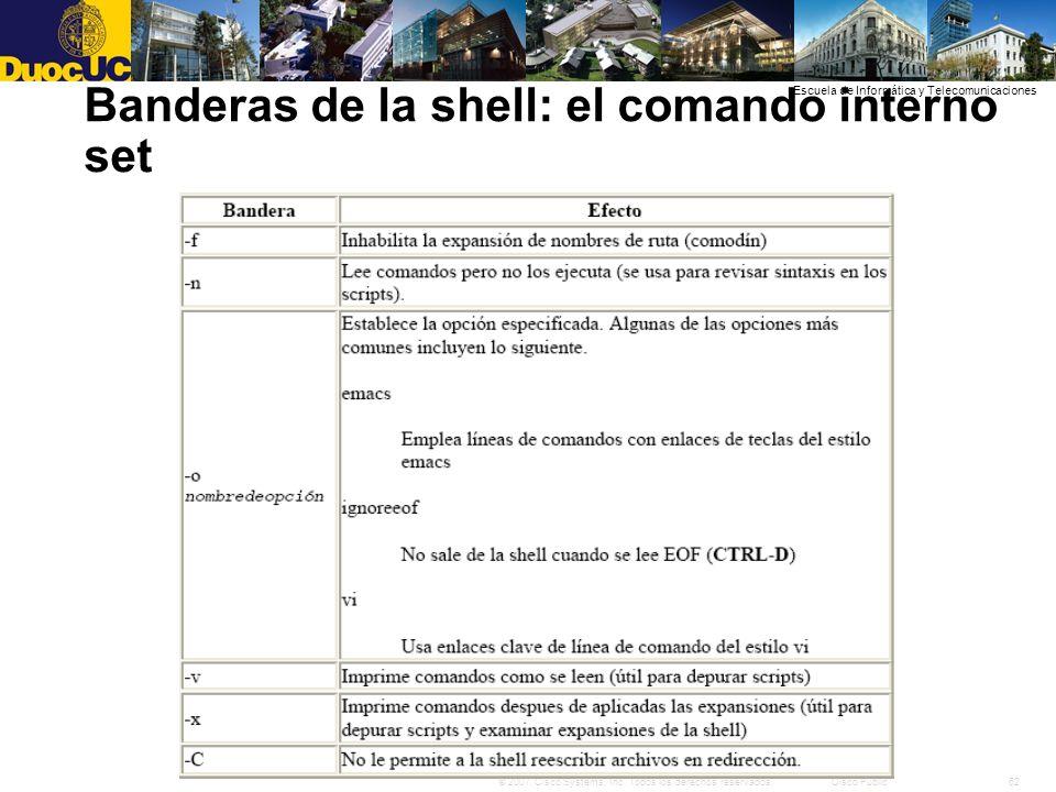 62© 2007 Cisco Systems, Inc. Todos los derechos reservados.Cisco Public Escuela de Informática y Telecomunicaciones Banderas de la shell: el comando i