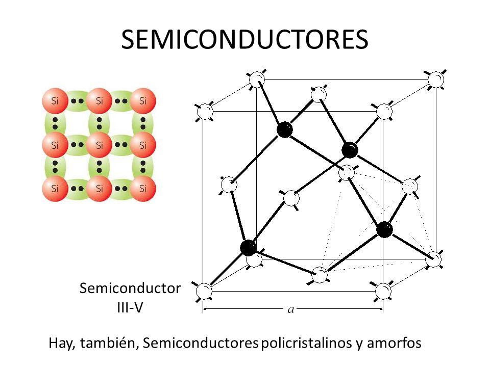 Semiconductor III-V SEMICONDUCTORES Hay, también, Semiconductores policristalinos y amorfos