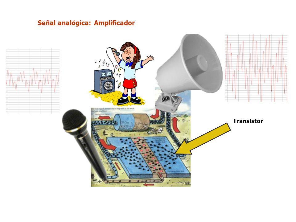 Señal analógica: Amplificador Transistor