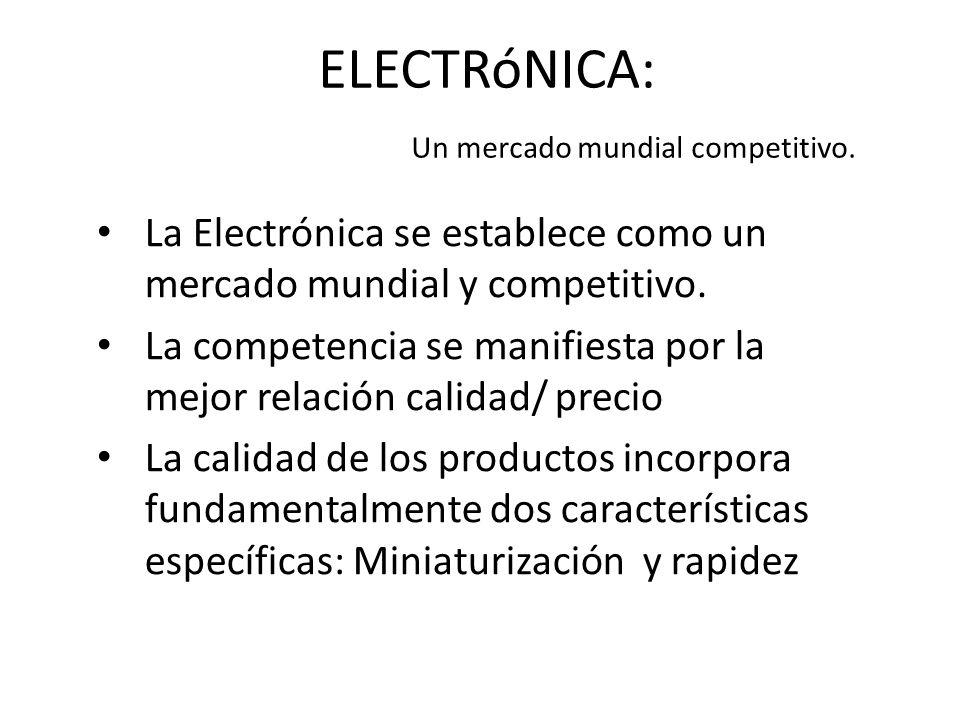 ELECTRóNICA: Un mercado mundial competitivo. La Electrónica se establece como un mercado mundial y competitivo. La competencia se manifiesta por la me