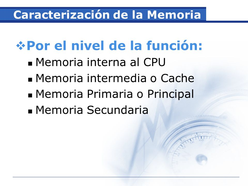 Caracterización de la Memoria Por la tecnología de construcción: Semiconductora Estática (Mayormente Bipolar).