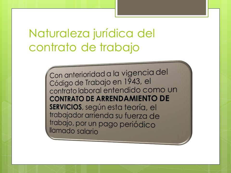 Naturaleza jurídica del contrato de trabajo
