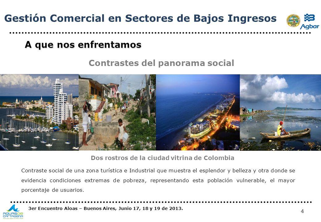 4 A que nos enfrentamos Contrastes del panorama social Contraste social de una zona turística e Industrial que muestra el esplendor y belleza y otra d