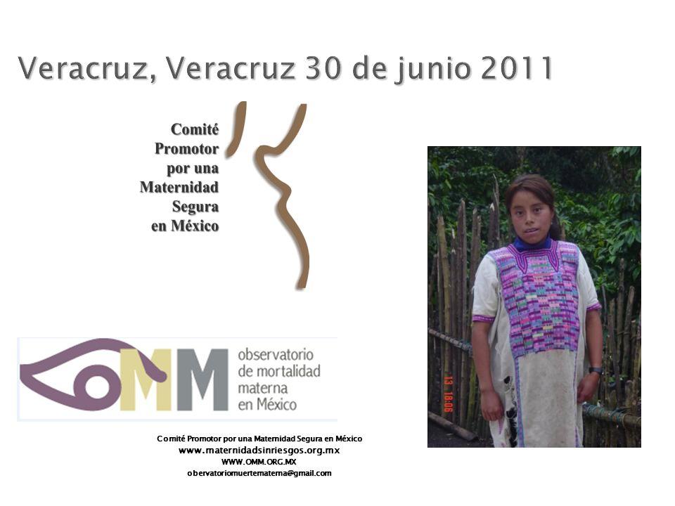 Comité Promotor por una Maternidad Segura en México www.maternidadsinriesgos.org.mxWWW.OMM.ORG.MXobervatoriomuertematerna@gmail.com Veracruz, Veracruz