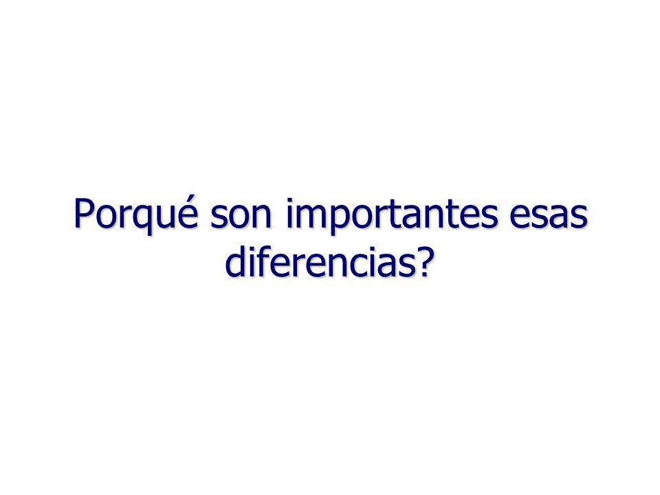 41 Porqué son importantes esas diferencias?