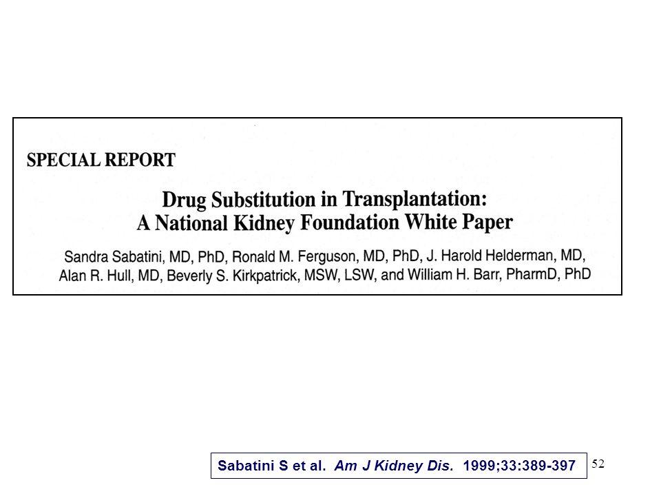 52 Sabatini S et al. Am J Kidney Dis. 1999;33:389-397