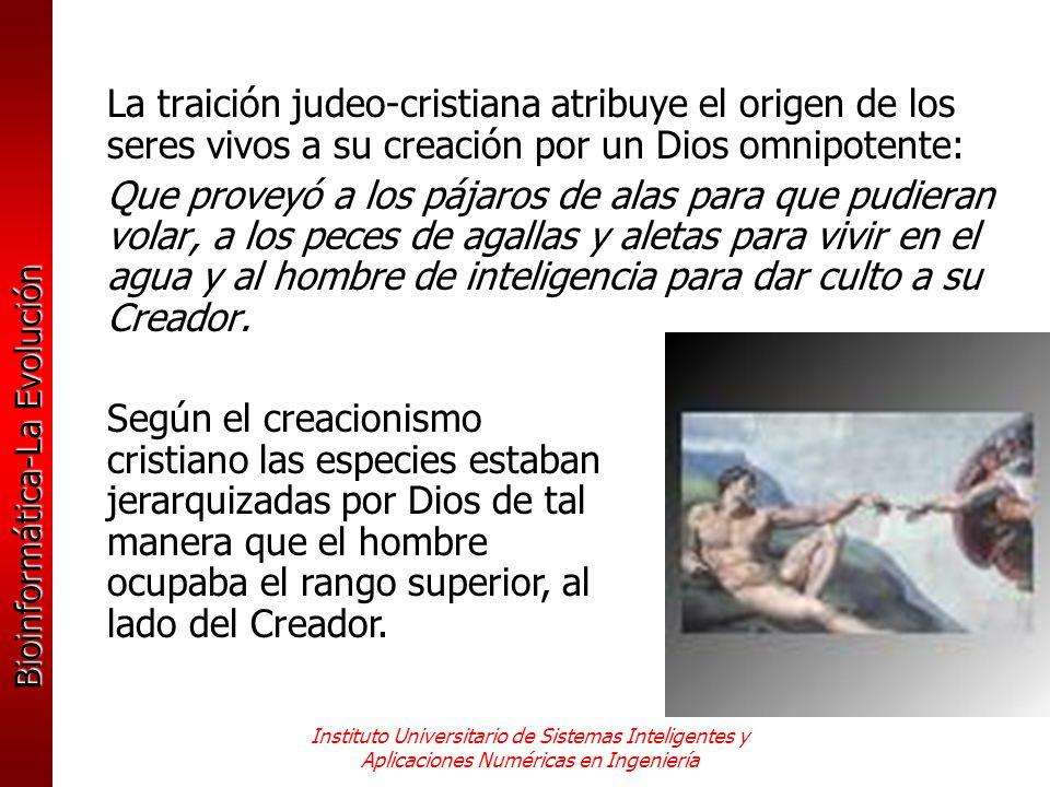 Bioinformática-La Evolución Instituto Universitario de Sistemas Inteligentes y Aplicaciones Numéricas en Ingeniería La traición judeo-cristiana atribu