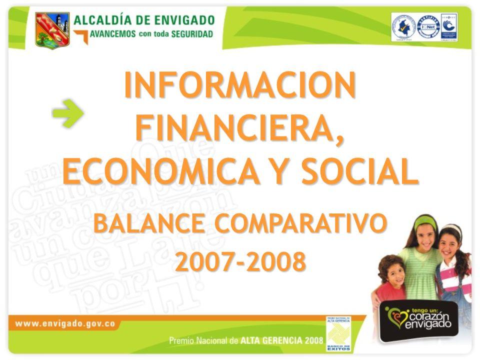 INFORMACION FINANCIERA, ECONOMICA Y SOCIAL BALANCE COMPARATIVO 2007-2008