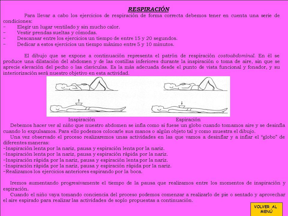 PREVENCIÓN DE DISLALIAS Interiorizar un patrón respiratorio costoabdominal, adecuado desde el punto de vista funcional y fonador, y coordinar correcta