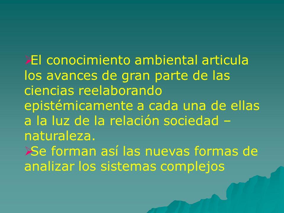 Avances de las ciencias hacia una visión más interdisciplinaria Estrategia esbozada en la ciudad de Bogotá (1982) por la Red de Formación Ambiental del PNUMA 1.