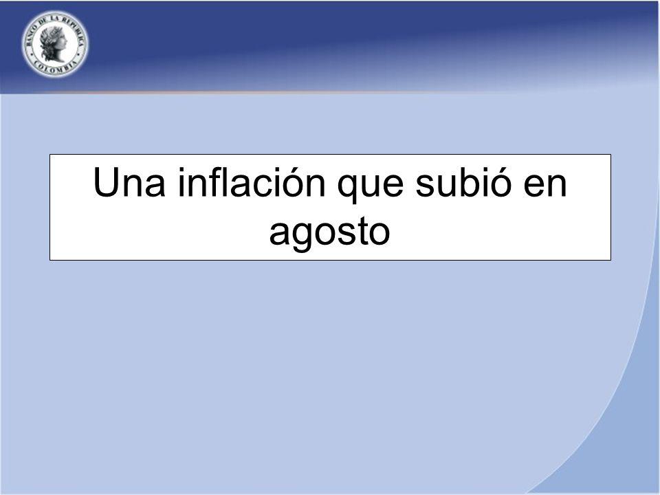 Una inflación que subió en agosto