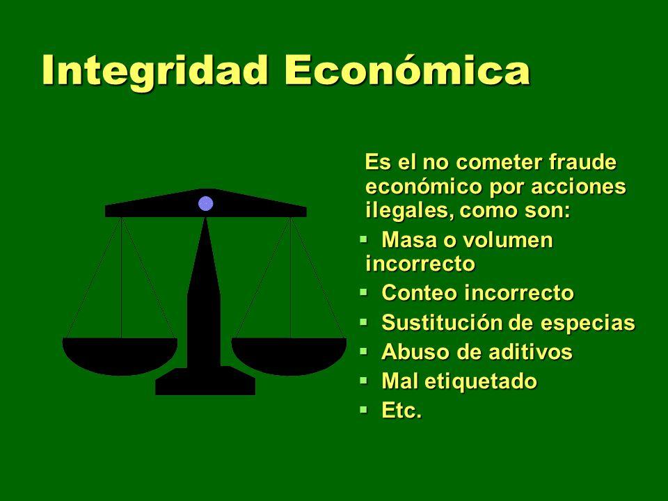 Integridad Económica Es el no cometer fraude económico por acciones ilegales, como son: Es el no cometer fraude económico por acciones ilegales, como