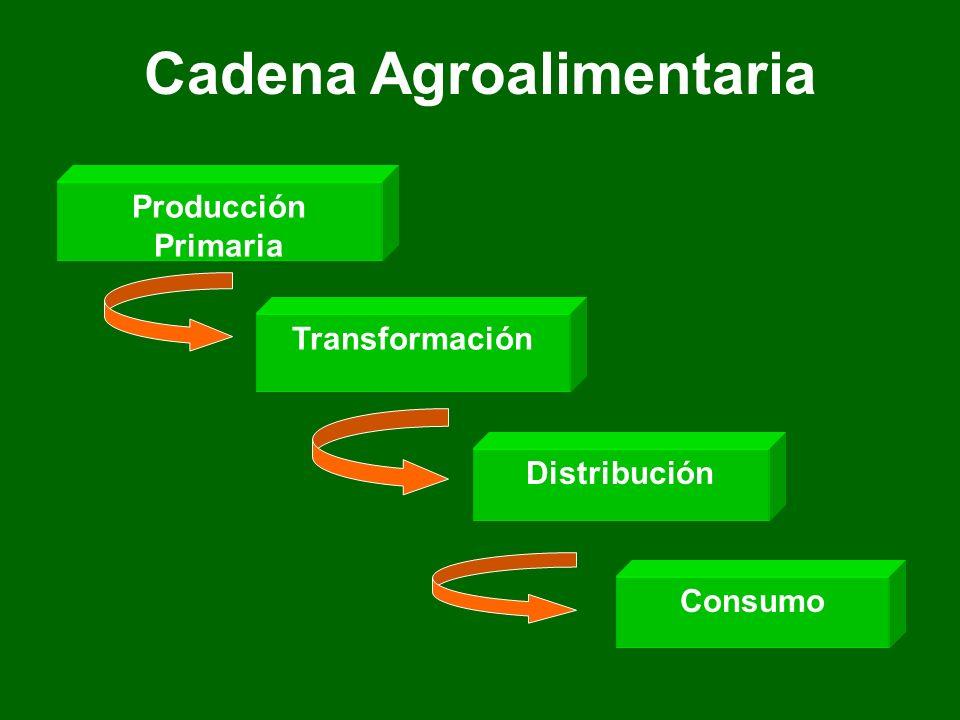 Cadena Agroalimentaria Producción Primaria Transformación DistribuciónConsumo