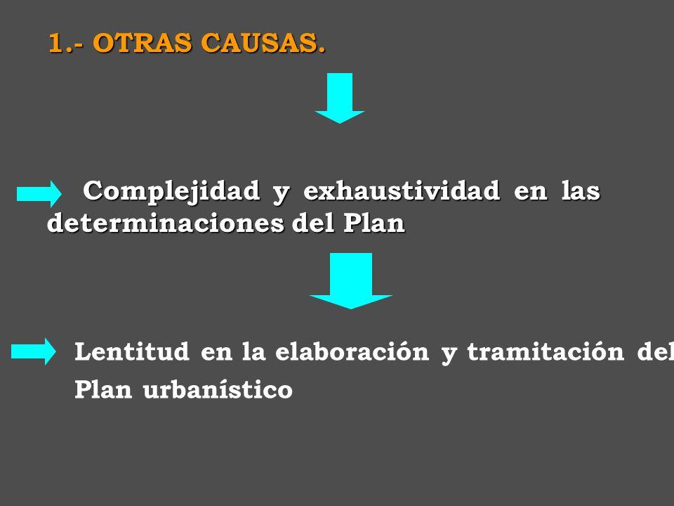1.- CAUSAS de la Crisis del Planeamiento del Planeamiento. - El planeamiento: la distancia entre su ambición organizadora y su escasa operatividad rea
