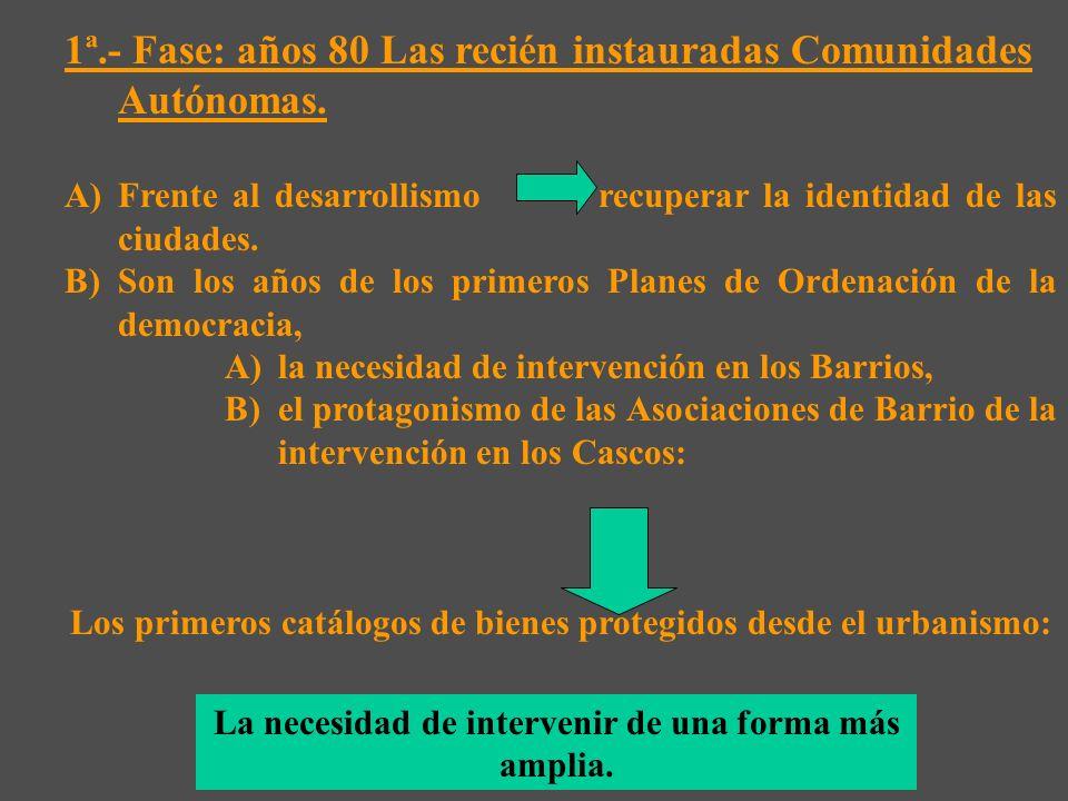 4ª.- Fase: Segunda parte de la década 2000 hasta la Ley 2007: La introducción del concepto de ecociudad.