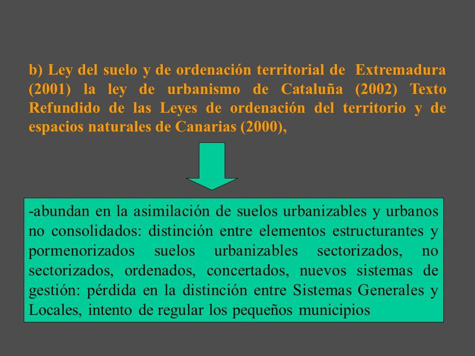 La Sentencia del Tribunal Constitucional 61/1997 provocó con conjunto de Leyes que desarrollaran en su integridad la materia urbanística: a) La Ley de