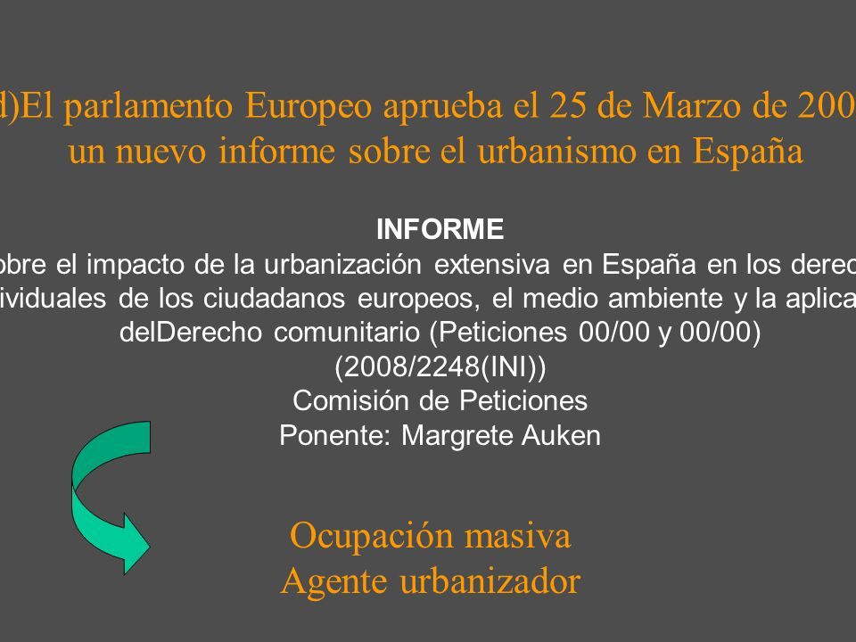 La política de ordenación del territorio de las comunidades autónomas: balance crítico y propuestas para la mejora de su eficacia Revista de Derecho U