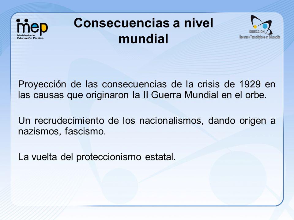 Proyección de las consecuencias de la crisis de 1929 en las causas que originaron la II Guerra Mundial en el orbe. Un recrudecimiento de los nacionali