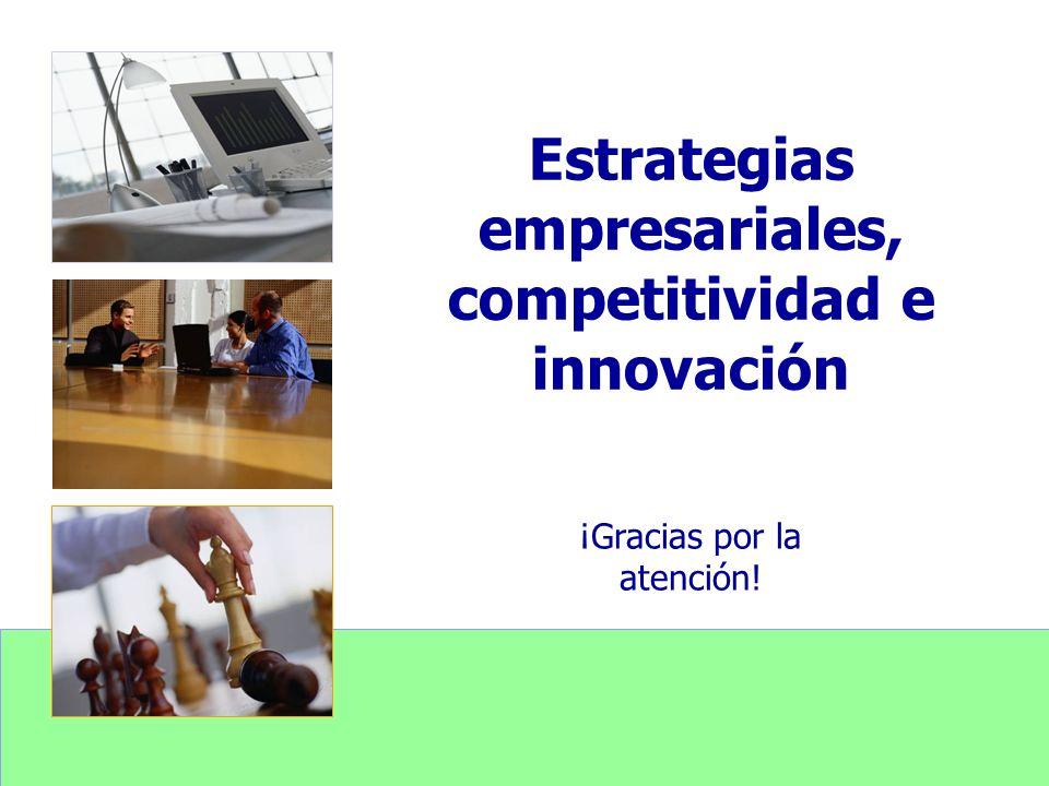 Estrategias empresariales, competitividad e innovación ¡Gracias por la atención!