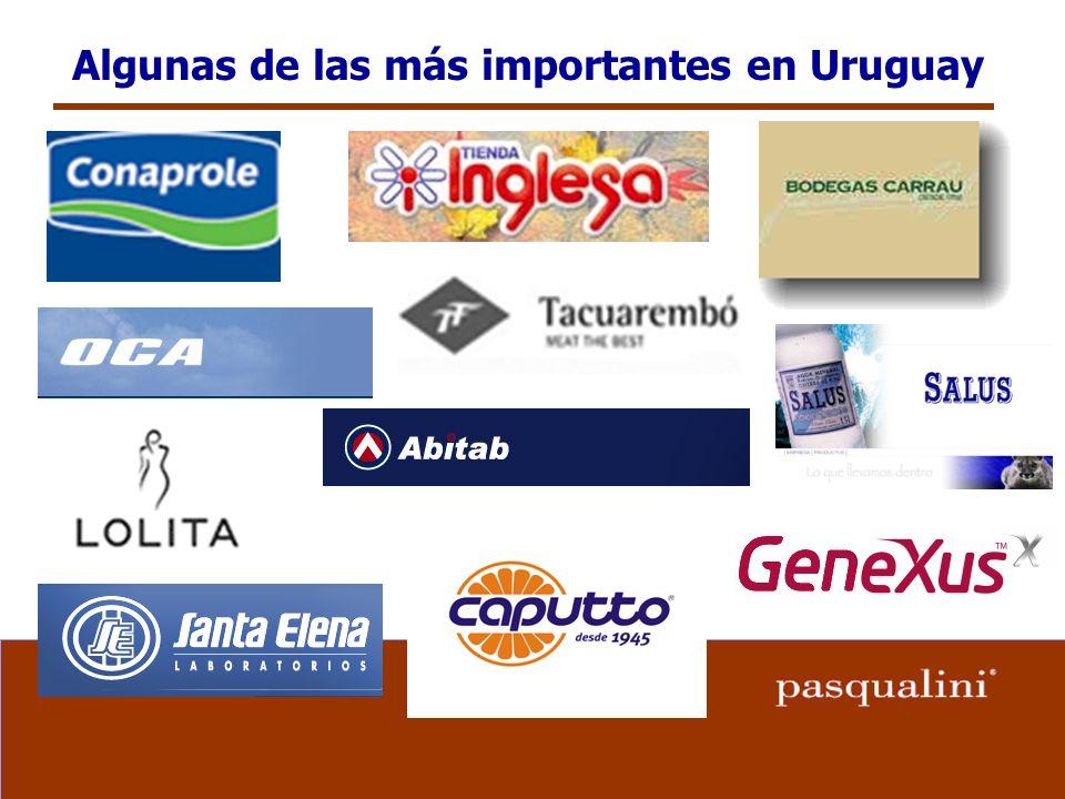 Algunas de las más importantes en Uruguay