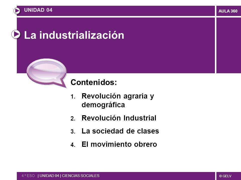 © GELV AULA 360 La industrialización Contenidos: 1.