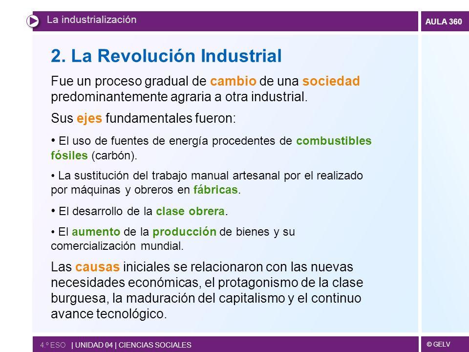 © GELV AULA 360 4.º ESO | UNIDAD 04 | CIENCIAS SOCIALES La industrialización 2.