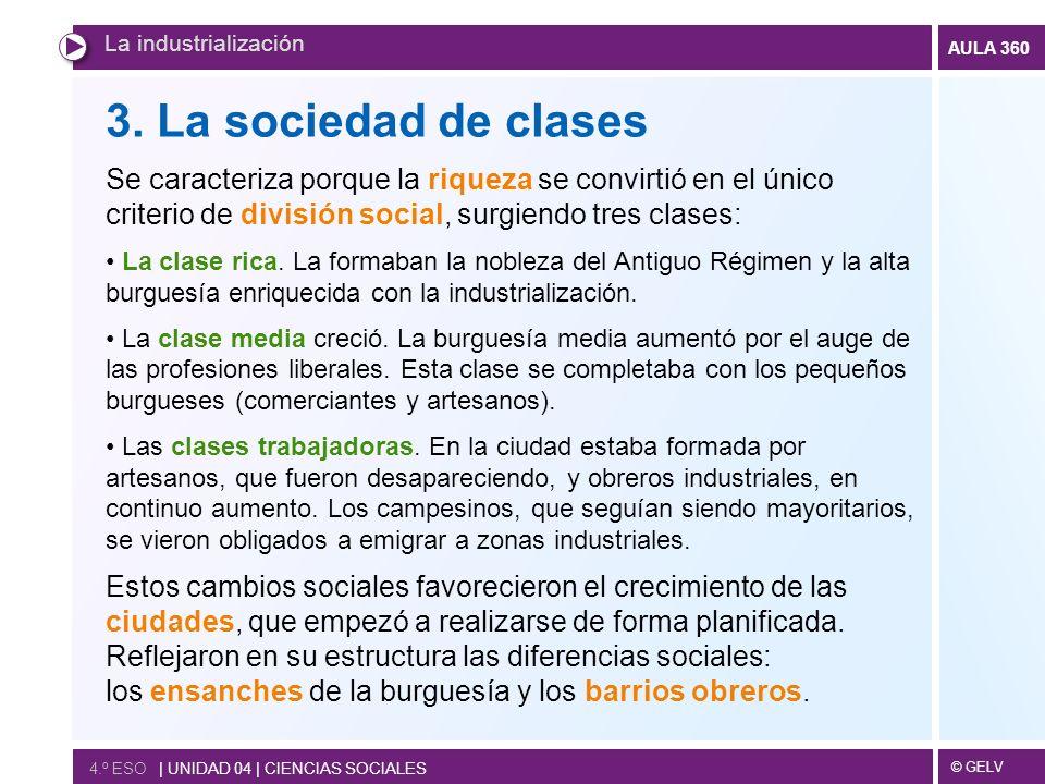 © GELV AULA 360 La industrialización 4.º ESO | UNIDAD 04 | CIENCIAS SOCIALES 3.