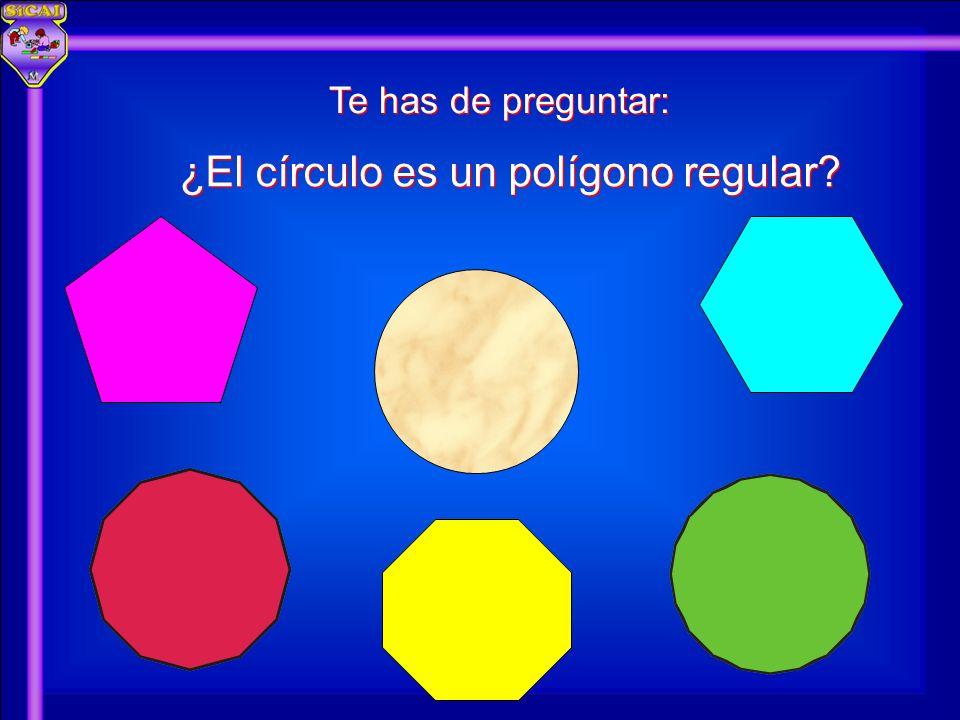 Te has de preguntar: ¿El círculo es un polígono regular?