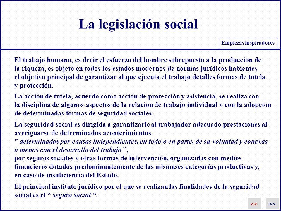 La legislación social >> El trabajo humano, es decir el esfuerzo del hombre sobrepuesto a la producción de la riqueza, es objeto en todos los estados