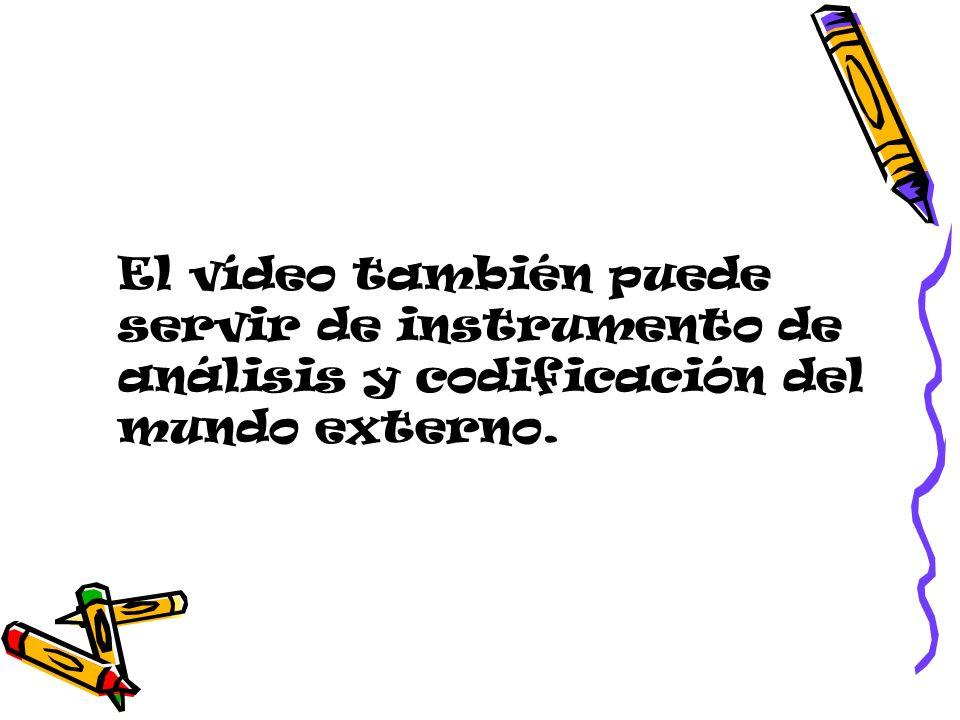 El vídeo también puede servir de instrumento de análisis y codificación del mundo externo.