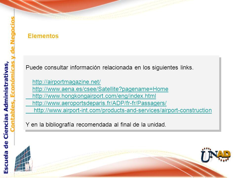 Puede consultar información relacionada en los siguientes links. http://airportmagazine.net/ http://www.aena.es/csee/Satellite?pagename=Home http://ww