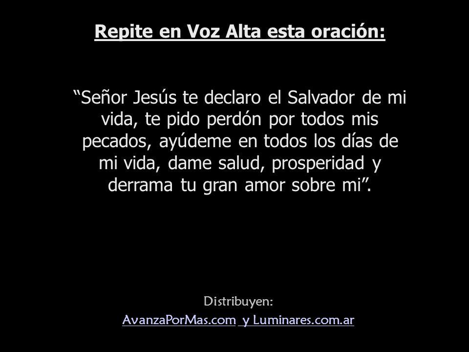 Distribuye: www.AvanzaPorMas.com Cristo desea ser nuestro Salvador. Su muerte merece toda nuestra devoción. Comienza hoy a creer en Él, abrele tu cora