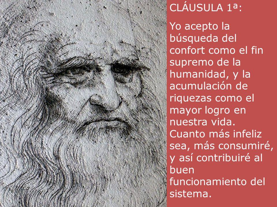 CLÁUSULA 31ª: Yo acepto la destrucción de los bosques y la desaparición de especies naturales.