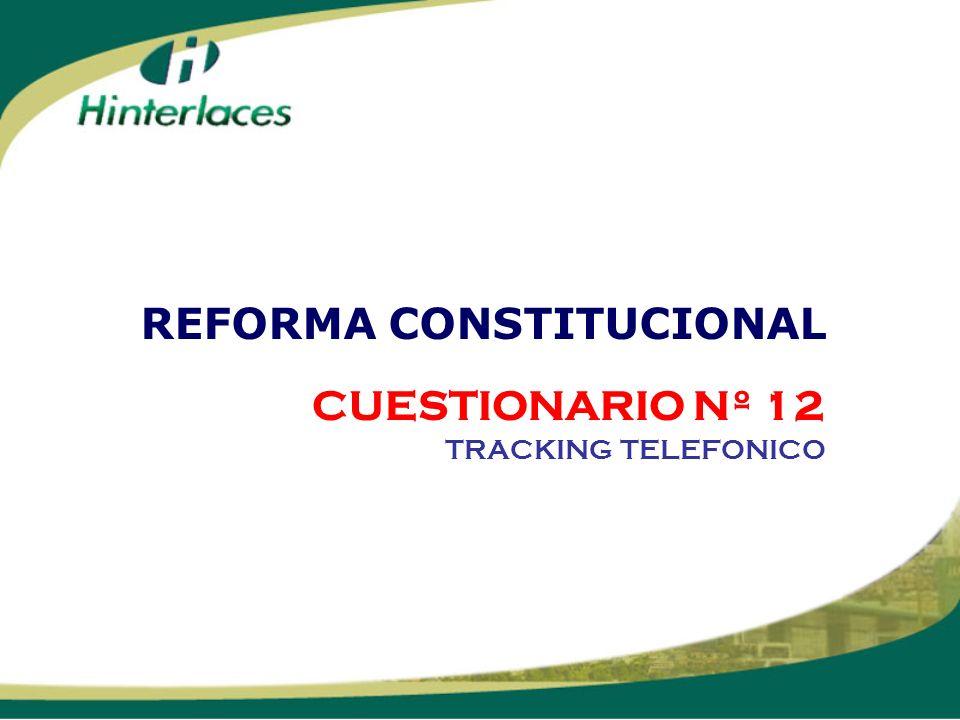 CUESTIONARIO Nº 12 TRACKING TELEFONICO REFORMA CONSTITUCIONAL