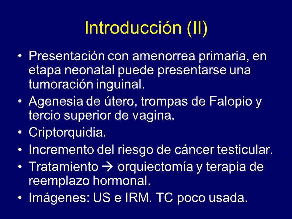Objetivo Revisar el rol de los métodos de imagen en el síndrome de feminización testicular completo.