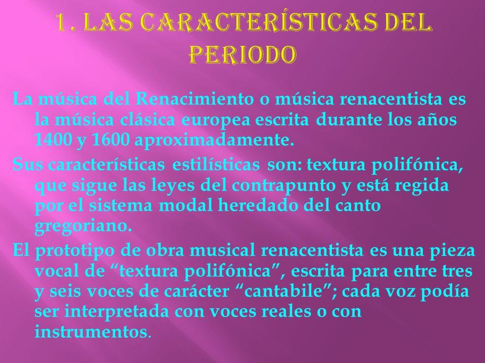 La música del Renacimiento o música renacentista es la música clásica europea escrita durante los años 1400 y 1600 aproximadamente. Sus característica