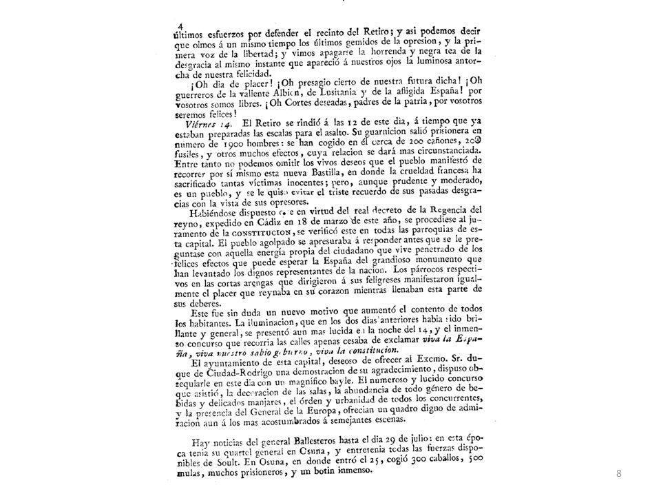 Sistema del Antiguo Régimen: Artículo XVIII de la instrucción para el gobierno económico de las provincias de 23 de junio de 1813.