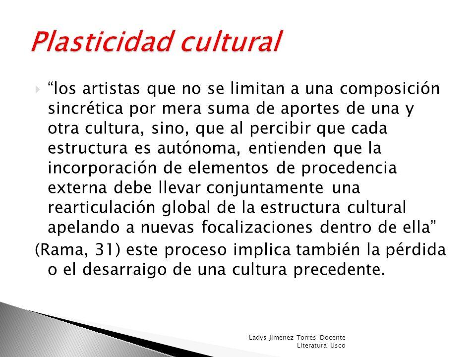 Vulnerabilidad Cultural Acepta las proposicione s externas y renuncia casi sin luchas a las propias. Rigidez Cultural Se acantona drásticamente en obj