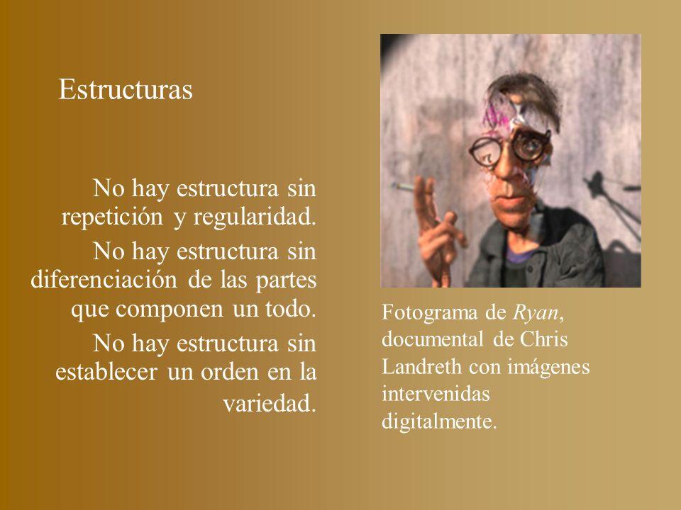 Estructuras No hay estructura sin repetición y regularidad. No hay estructura sin diferenciación de las partes que componen un todo. No hay estructura