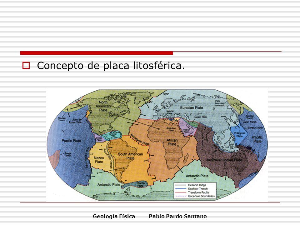 Geología Física Pablo Pardo Santano Concepto de placa litosférica.