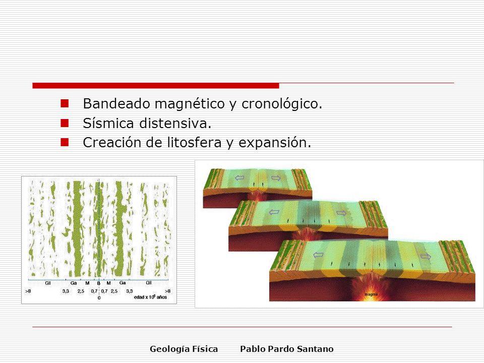 Geología Física Pablo Pardo Santano Bandeado magnético y cronológico. Sísmica distensiva. Creación de litosfera y expansión.