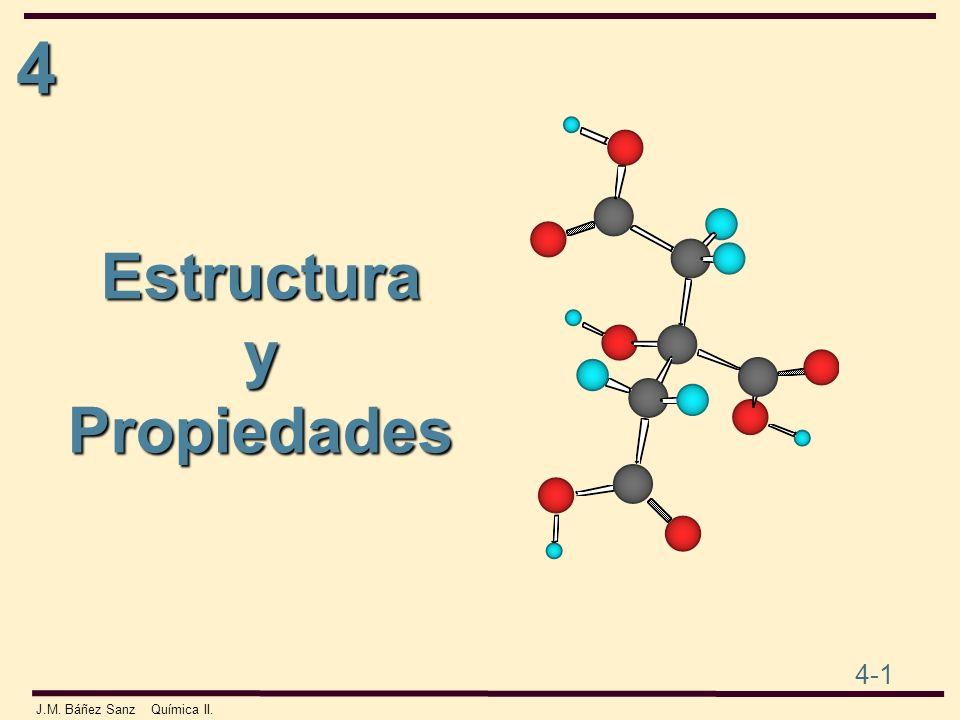 4 4-1 J.M. Báñez Sanz Química II. EstructurayPropiedades