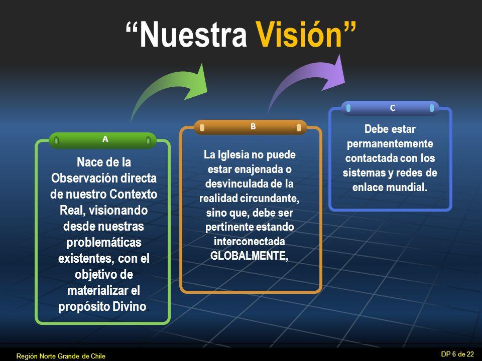 Nuestra Visión A B C Nace de la Observación directa de nuestro Contexto Real, visionando desde nuestras problemáticas existentes, con el objetivo de materializar el propósito Divino.