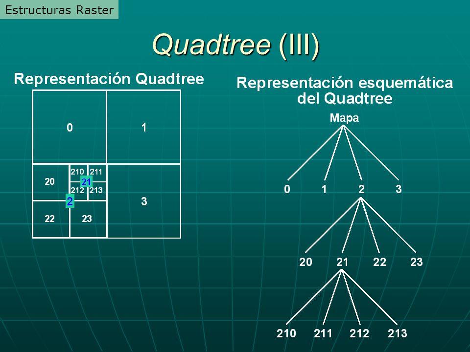 Quadtree (III) Estructuras Raster